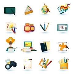 Designer Icons Set vector image