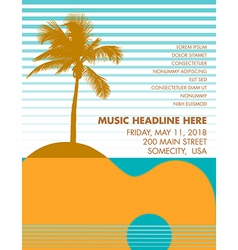 Guitar Palm tree vector image vector image