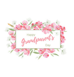 holiday greetings grandparents day vector image vector image