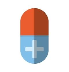 medical pill capsule drugs cross shadow vector image
