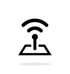 Radio tower base icon on white background vector image