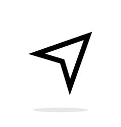 Arrow navigator icon on white background vector image