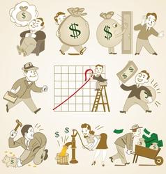 business people cartoon vector image vector image