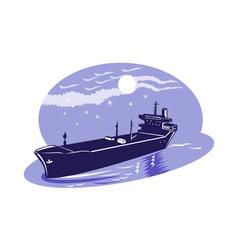 container cargo ship vector image vector image