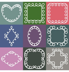 Hipster Frames Design Templates Set vector image