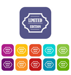 limited edition icons set vector image