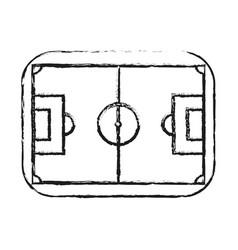 Monochrome blurred silhouette of soccer field vector