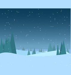 night winter forest vector image