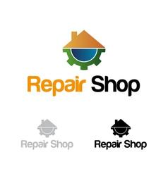 Repair shop logo vector image vector image