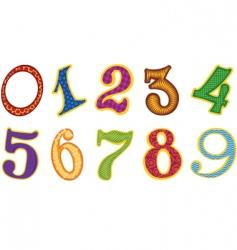 set of cartoon number vector image