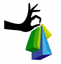 shopping hand vector image