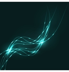 Abstract aquamarine waves background vector image vector image