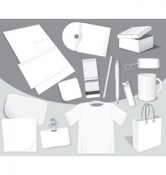 blank objects vector image vector image