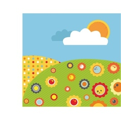 colorful abstract spring meadow with flowers vector image