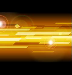 dark orange abstract tech background vector image
