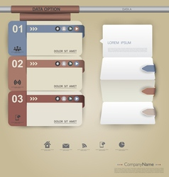Modern clean template vector image