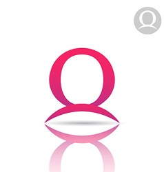 Omega letter icon vector image