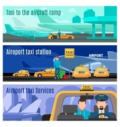 Taxi service banners vector image