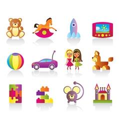 Various children toys vector image
