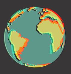 3d earth vector