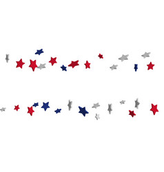 Abstract background red blue white stars vector