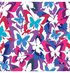 Abstract seamless pattern with colorful butterfly vector image