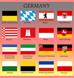 all flags german states vector image