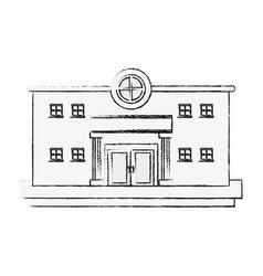 bank building edifice vector image