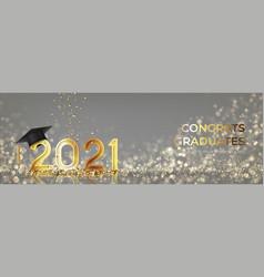 banner for design graduation 2021 vector image