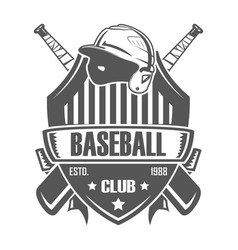 baseball badge bat vector image