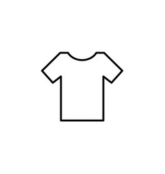 Blank tshirt icon symbol black on white vector