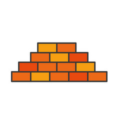 bricks wall isolated icon vector image