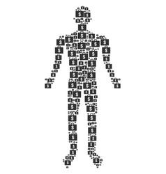 business case human figure vector image