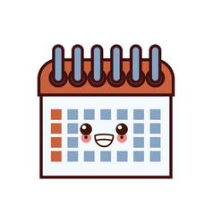 calendar event date kawaii cartoon vector image