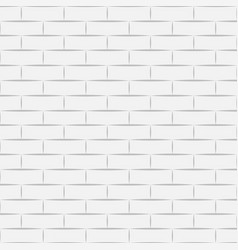 ceramic white brick tile wall eps vector image