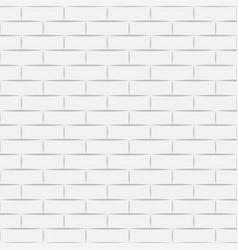 Ceramic white brick tile wall eps vector