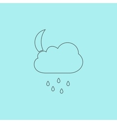 Cloud rainy month icon sign and button vector image