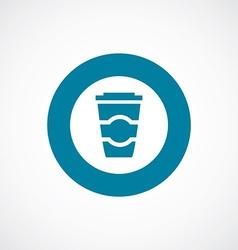 Coffee icon bold blue circle border vector
