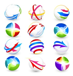 collection of colour icons vector image