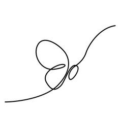 continuous one line drawing butterfly vector image