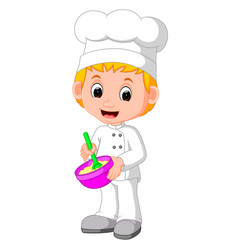 cute chefs make bread vector image