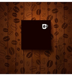 Dark paper note with place for Your text vector image