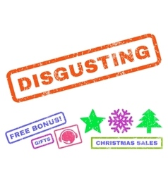 Disgusting Rubber Stamp vector
