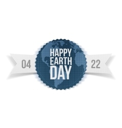 Earth Day festive Banner with Ribbon vector