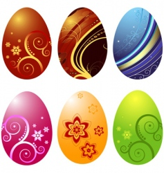 easters eggs vector image