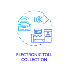Electronic toll collection concept icon vector