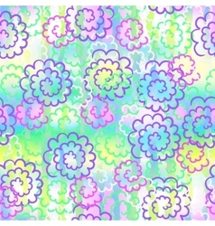 Endless background of colorful abstract flowers vector