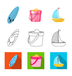 Equipment and swimming icon vector