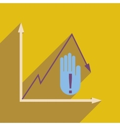 Flat web icon on white background economic graph vector