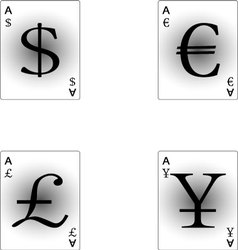 Four aces currency vector
